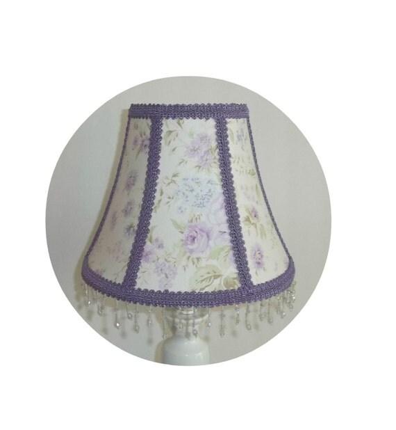 Shabby Chic Lavender Wildflowers Lamp Shade