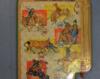 """1960s Vintage Wolverine Toy Company Tabletop Pinball """"Rodeo Marble Game"""" #146"""