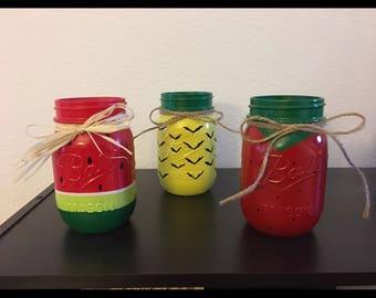 Fruit Mason Jar Summer Decor