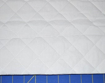 Double Sided White Quilted Fabric (By The Yard)