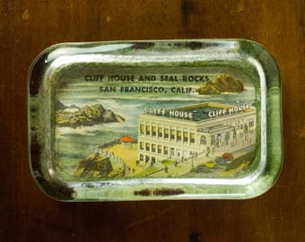 Vintage San Francisco Cliff House Paperweight - Heavy Glass