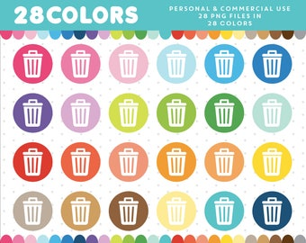 Trash clipart Trash can clipart Recycle clipart Garbage clipart Housework clipart Cleaning clipart Recycle bin clipart Chore clipart CL-555