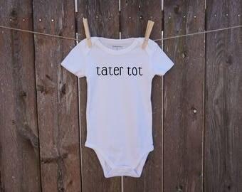 tater tot handmade baby onesie gender neutral