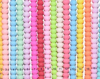 Matte Glass Beads Donuts Roundel Faceted for Jewelry Decoration Chandelier 6x8mm 140 PCs each Strand