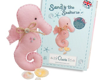 Sandy Seahorse Felt Sewing Kit