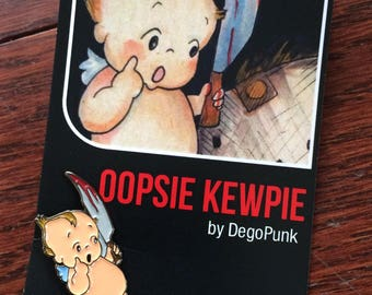 oopsie KEWPIE horror pin