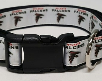 Dog Collar, Atlanta Falcons, Falcons Dog Collar, Falcons Collar, Football, NFL, NFL Dog Collar, Sports, Sports Collar, Sports Dog Collar