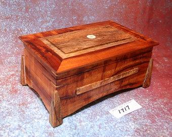 Wooden Hawaiian Koa and Mango display box
