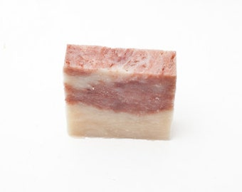 Cherry Almond Hair, Body & Beard Bar Soap - All Natural - Handmade - Artisan - Handcrafted - Cold Processed - Vegan - Bath - Beauty - Spa