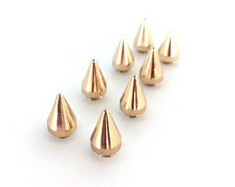 ROSE GOLD Spikes 15mm / Metal Spikes / Studs and Spikes / Cone Spikes / 15mm Spikes / Screw in Spikes / Cone Spike / Set of EIGHT