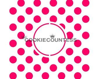 Polka Dots Monogram Stencil