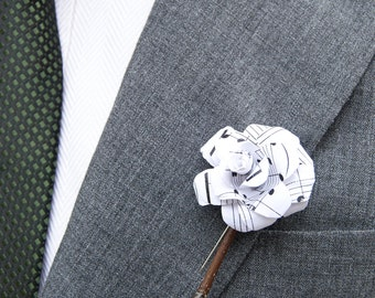 Music Paper Boutonnieres