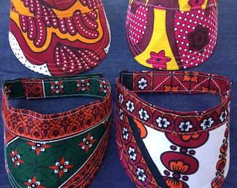 khanga   handmade reversible sunvisor