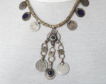 Turkmen lapis lazuli necklace