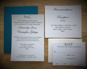Tiffany blue wedding invitations Etsy