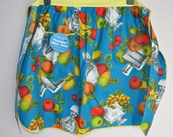Vintage cotton apron with label  1960s 1970s unused