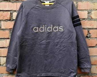 Rare!!! ADIDAS Sweatshirt Spellout Pullover Medium Size