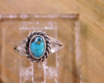 Sterling Silver Turquoise Ring Size 5.25