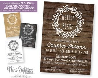 Couples wedding shower invitation Etsy