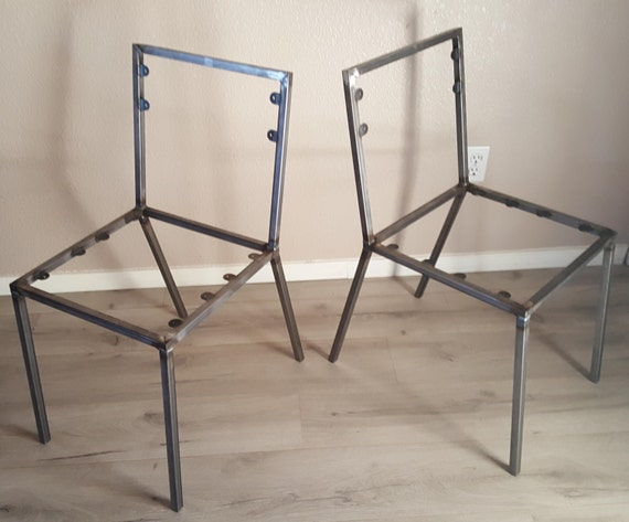 Steel Dining Chair Frame Set Of 2 Chair Frames DIY Create Your