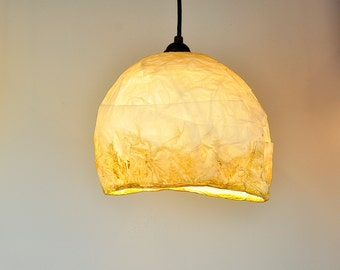 Golden Bedroom Lampshade, Nordic Decor, Paper Lamp shade, Soft Warm Romantic Light, Hanging Lamp, Ceiling Light Lamp, Artistic Paper Lamp