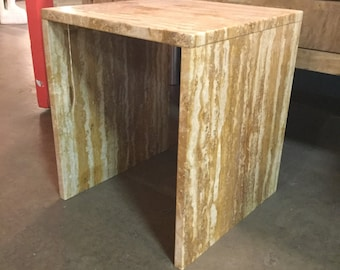 Mid century Travertine Side Table