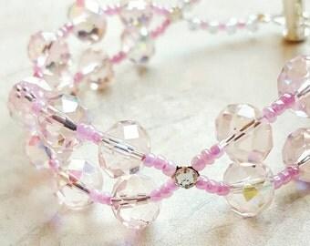 Bling Thing Bracelet, statement, Pink,Gift