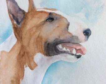 Custom pet portrait Bull Terrier