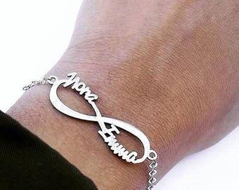 Infinite personalized bracelet
