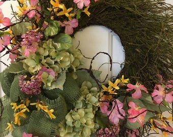 Springy Moss covered Twig Wreath