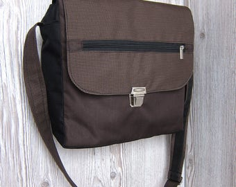 Brown messenger bag, Laptop bag, Satchel bag, Crossbody bag, Mens Women shoulder bag, Ipad bag, Diaper bag, Hipster bag, Waterproof handbag