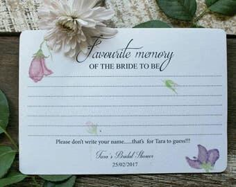 Garden Party | Bridal Shower memory card