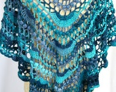 Shawl, wrap. Crochet spar...