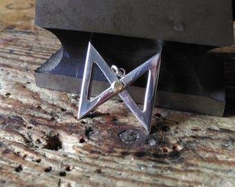 Viking rune pendant silver dagaz medieval ancient magic