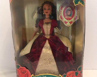 1997 Disney's Beauty and the Beast The Enchanted Christmas  Holiday Princess Belle Barbie