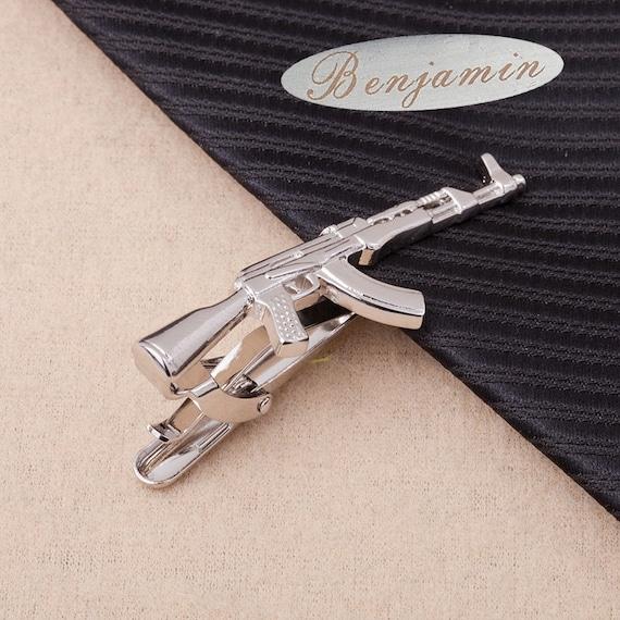 signaturetieclip,customtieclip,Rifle Tie Clip,Rifle Tie Bar,AK-47,Men's Accessories,Novelty Tie Bar,Ushers,fashion,christmasgiftsfor