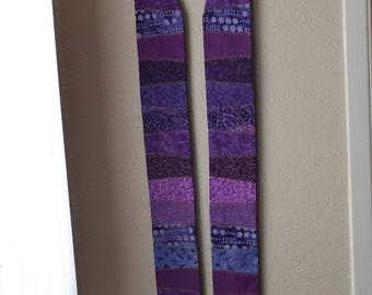 Purple pieced Lent stole