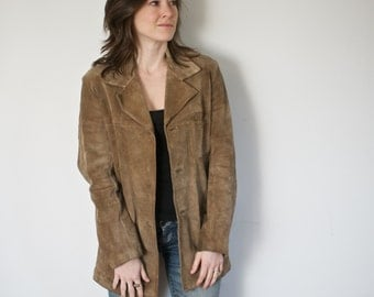 Suede Trench Coat | Medium / Large