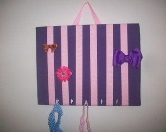 Hair Bow Holder Purple Bow Holder Hair Bow Organizer Headband Holder Girls Hair Clip Holder Hair Organizer Medium 11x14