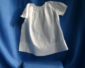 Vintage  Hand Smocked and Hand Embroidered Infant Dress
