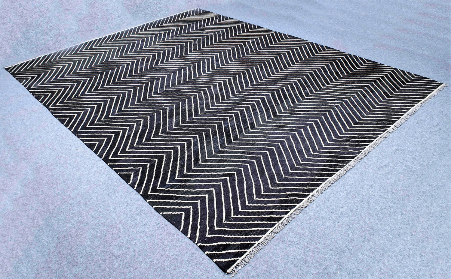Large Black And White Area Rugs: Large Black And White Rug White And Black Kilim Rug 10 X 13