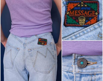 80s Mom Jeans 80s High Waisted Jeans Light Blue Wash Baggy Jeans W28 Tapered Leg Jeans High Rise Waist Jeans Light Blue Mum Jeans Waist 28