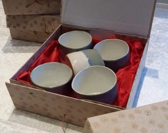 Set theekom/ceramic hand-made tank of water 5 pieces in box