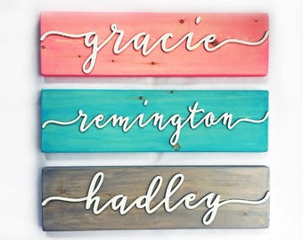 Personalized Nursery Decor - Wooden Name Sign - Baby Room Decor - Personalized Painted Wood Name Sign - 3D Baby Name Wooden Sign - Rustic