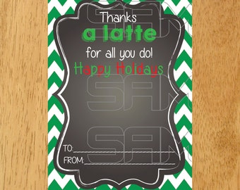 Starbucks Gift Card Holder, Happy Holidays Gift Card Holder, Holiday Printable