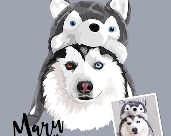 Anniversary Gift, pet portrait, custom pet print, dog portrait, dog print, pet print, custom pet print, pet art, dog art, dog poster