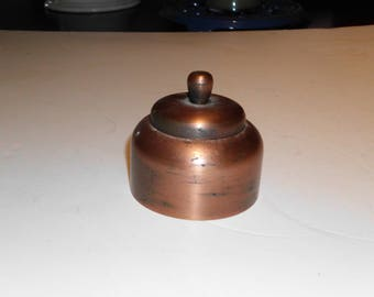 Copper Inkwell with glass insert
