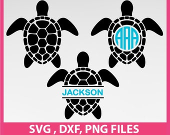 Sea Turtles svg, Ocean svg, DXF, PNG Formats 0030