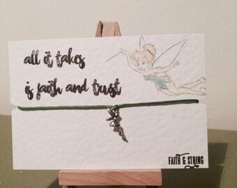 Tinkerbell gift fairy gift wish bracelet
