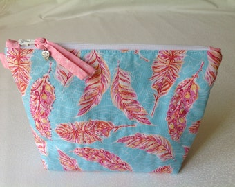 Unique, handmade, embroidered, make up bag, toiletries storage